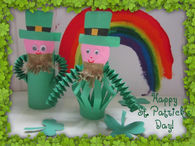Toilet holder leprechauns