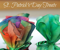 Coffee filter treat packages for St Patricks Day