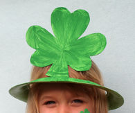 St Patricks Day Shamrock Hat