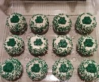 Irish shamrock cupcakes