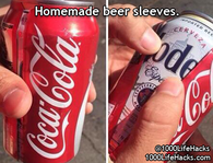 Homemade beer sleeves