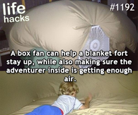 Box fan blanket fort