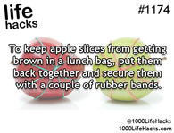 Keeping apple slices from getting brown