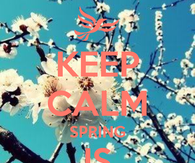 Keep calm and spring is coming