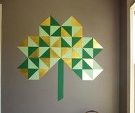 Giant Geometric Wall Shamrock