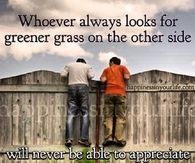 Appreciate the grass under your feet