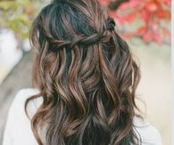 Brown braid crown
