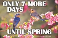 Only 7 More Days Until Spring