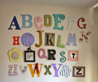 Unique lettering for baby room