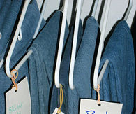 Label hangers for jeans