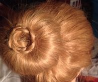 Sock bun with braided flower