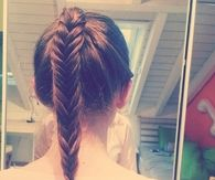 Brunette fishtail braid