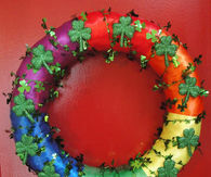 Festive st patricks wreath