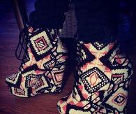 Charlotte Russe Aztec Print Boots