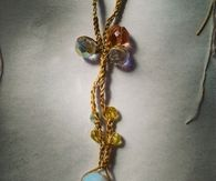 Handmade opal necklace