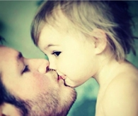 Daddy Daughter Kiss