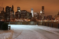 Manhattan snow