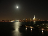 NY skyline at night