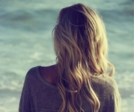 Blonde summer wavy hair