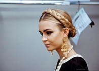 Blonde braid wrap