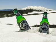 Heineken in the snow