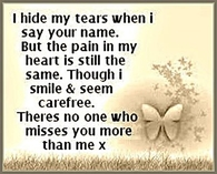 no one misses you more than me