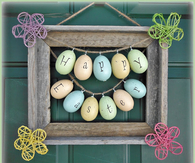 Easter picture frame wreath