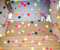3D Hanging colorful diamonds