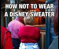 How to not wear a Disney sweater