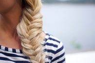 Cute blonde braid