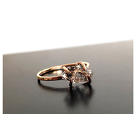 Herkimer diamond gold ring
