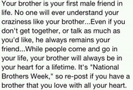 your brother