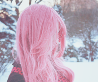 Hipster pink hair