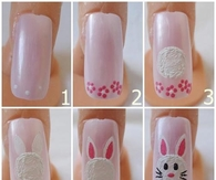DIY Bunny Nails