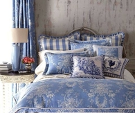 Pretty Blue & White Bedroom