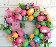 Adorable Homemade Easter Wreath