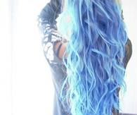Long Blue Wavy Hair
