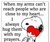 hug them with my prayers