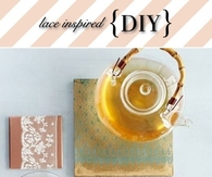 DIY Lace Mason Jar Candles