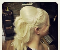 Blonde french plait