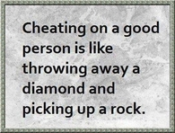 cheating on a good person