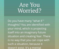 are you worried