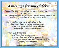 a message for my children