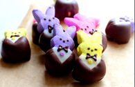 Chocolate bunny peeps