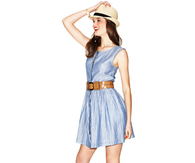 Cotton Dress with Belt