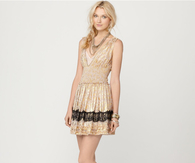 Metallic Sleeveless Summer Dress