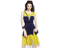 Yellow & Blue Summer Dress