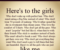 Heres to the girls like me