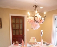 Pink elegant baby shower theme