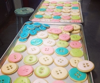 Baby shower button cookies